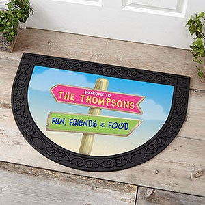 Personalized Half Round Doormat - Journey Marker - 18841
