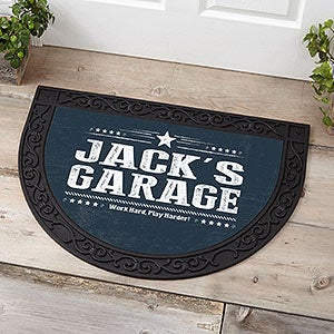 Personalized Half Round Doormat for Him - 18842