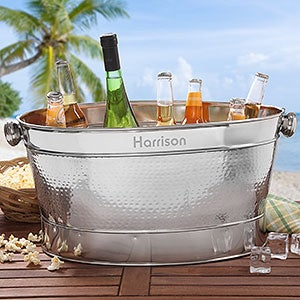 Personalized Stainless Steel Beverage Tub - Classic Party - 18882