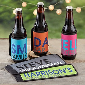 Personalized Coozies  Can & Bottle Wraps - Bold Name - 18884