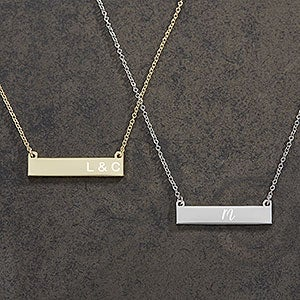 Personalized Nameplate Necklace - Initials - 18888