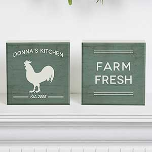 Personalized Shelf Decor - Farmhouse Kitchen - 18893