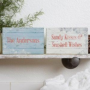 Beach Home Decor - Personalized Shelf Blocks - 18901