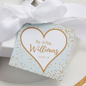 Sparkling Love Personalized Wedding Gift Tags - 18922
