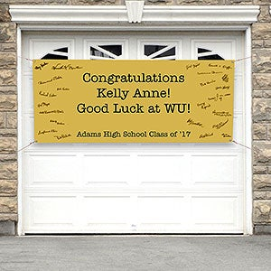 Personalized Graduation Party Banner - Guest Signatures - 18926