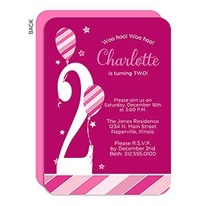Personalized Birthday Invitation - Birthday Girl - 18937