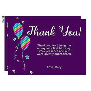 Personalized Thank You Cards - Birthday Girl - 18938
