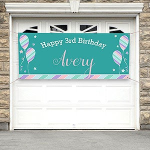 Personalized Birthday Party Banner - Birthday Girl - 18939
