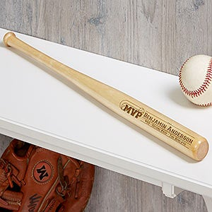 Engraved Mini Baseball Bat - MVP - 18953