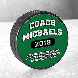 Personalized Hockey Puck - Coach Gift - 18956