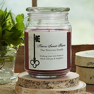 Personalized Scented Candle - Key To Our Home - 18957