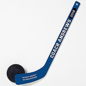 Personalized Mini Hockey Stick - Coach Gift - 18967