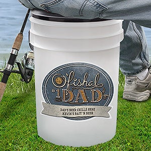Personalized Bucket Cooler & Seat for Dad - 18976