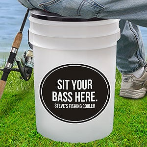 Personalized gifts for grandparents for Fishing bucket seat