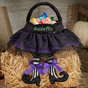 Personalized Black Tutu Witch Treat Bags - 18994