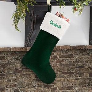 Personalized Velvet Christmas Stockings - 19004