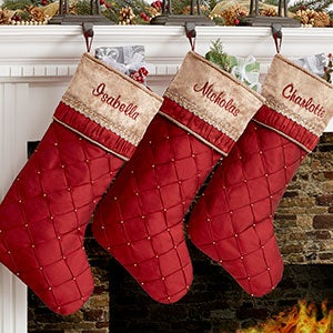 Personalized Christmas Stockings - Jeweled Holiday - 19006