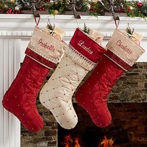 Personalized Christmas Stockings - Jeweled Holiday - 19006