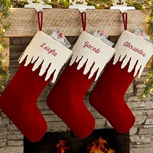 Personalized Christmas Stockings - Sparkling Icicle - 19009