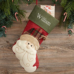 Vintage Inspired Personalized Christmas Stockings - 19013