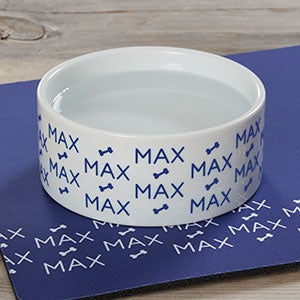 Personalized Dog Bowls - Repeating Name - 19024