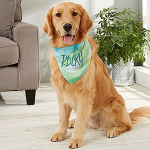 Watercolor Spring Floral Over the Collar Dog Bandana Extra Large