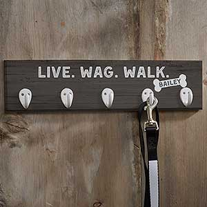 Personalized Dog Leash Hook - Farmhouse Style - 19049