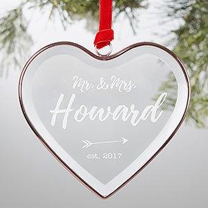 Personalized Bronze Wedding Ornament - Sparkling Love - 19057