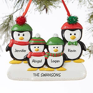 Personalized Penguin Ornaments - Penguin Family - 19062