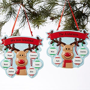 personalized christmas ornaments reindeer family 19064