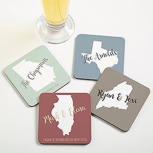 Personalized Coasters - State Pride - 19069
