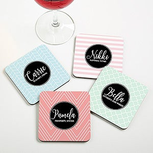 Personalized Name Meaning Coasters - 19070