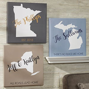 Personalized Canvas Prints - State Pride - 19101