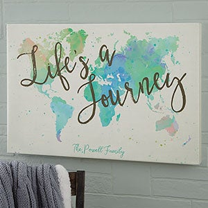 Personalized 24x36 World Map Canvas Print - For The Home