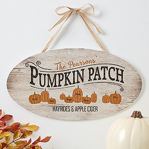 Personalized Halloween Sign - Family Pumpkin Patch - 19112