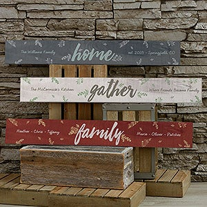 Personalized Wooden Sign - Cozy Home - 19113
