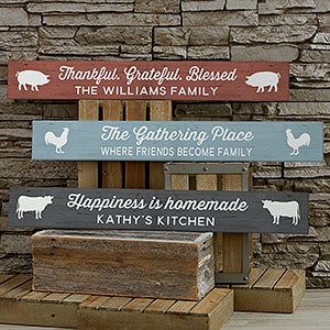 Personalized Wooden Sign - Farmhouse Kitchen - 19114