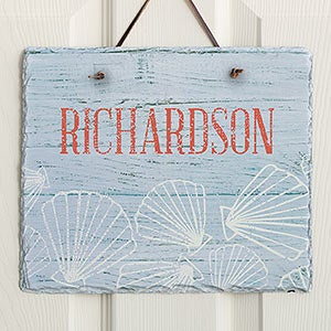 Coastal Home Personalized Slate Plaques - 19116