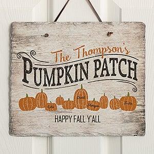 Personalized Slate Plaque - Family Pumpkin Patch - 19117