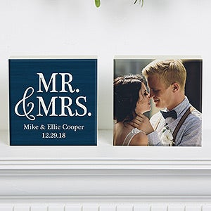 Personalized Shelf Decor - Wedding Photo - 19128