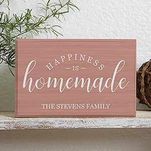 Personalized Shelf Decor - Happiness Is Homemade - 19131