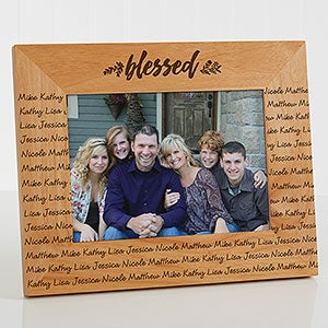cozy home repeating name picture frame - Name Picture Frames