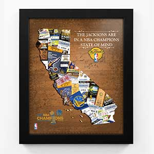 Golden State Warriors Personalized Sports Print - 19149