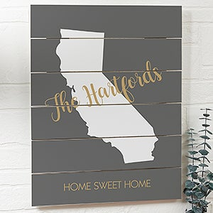 Personalized Wood Plank Signs - State Pride - 19165