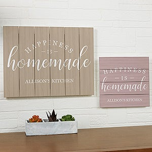 Custom Wood Plank Signs - Happiness Is Homemade - 19172