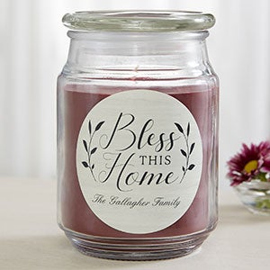 Bless This Home Personalized Scented Candles - 19200