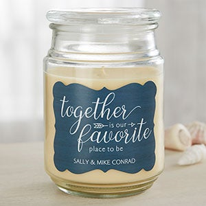 our favorite place personalized scented candles