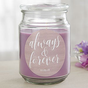 Always & Forever Personalized Scented Candles - 19203