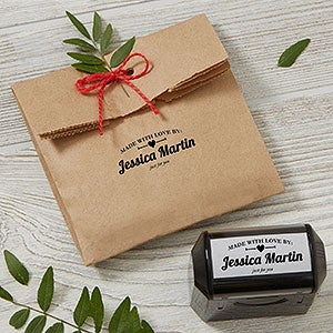 Made With Love Self-Inking Personalized Stamp - 19236