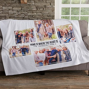 Personalized Photo Collage Sweatshirt Blankets - 19247